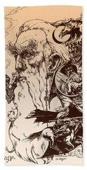 gandalf- Tolkien appreciation Hand Towel