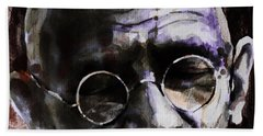 Bath Towel featuring the painting Gandhi by Laur Iduc