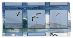 Gannets Galore Hand Towel by Terri Waters