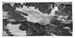 509427-bw-gannett Peak And Gooseneck Glacier, Wind Rivers Hand Towel