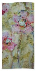 Hand Towel featuring the painting Garden Bliss by Mary Wolf