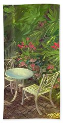 Garden Conversation Bath Towel
