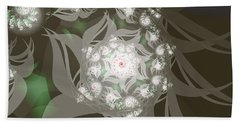 Hand Towel featuring the digital art Garden Echos by Elizabeth McTaggart