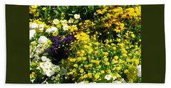 Garden Flowers Hand Towel