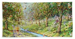 Garden Of Prosperity Bath Towel
