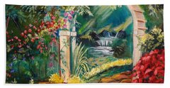 Garden Of Serenity Beyond Hand Towel