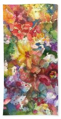 Garden - The Secret Life Of The Leftover Paint Hand Towel by Anna Ruzsan