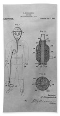 Gas Mask Patent Drawing Hand Towel