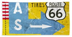 Gas Next Exit- Route 66 Hand Towel