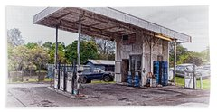 Hand Towel featuring the photograph Gasoline Station by Jim Thompson