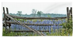 Gate To Blue Hand Towel by Cheryl Baxter