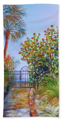 Hand Towel featuring the painting Gateway To Paradise by Lou Ann Bagnall