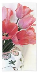 Gathered Tulips Bath Towel
