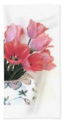 Gathered Tulips Bath Towel