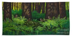 Gathering Among The Ferns Hand Towel