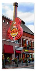 Gatlinburg Hard Rock Cafe Hand Towel by Frozen in Time Fine Art Photography