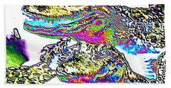 Bath Towel featuring the photograph Gator Babes Foiled by Belinda Lee
