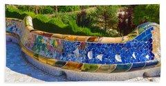 Gaudi's Park Guell - Impressions Of Barcelona Bath Towel