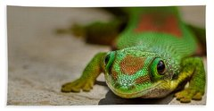 Gecko Portrait Bath Towel