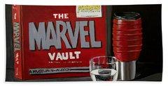 Geek Obsession - Still Life Acrylic Painting - Marvel Comics - Ai P. Nilson Hand Towel