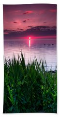 Geese At Sunrise Hand Towel