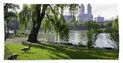 Geese In Central Park Nyc Bath Towel
