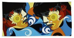 Gemini Painting With Hidden Pictures Hand Towel