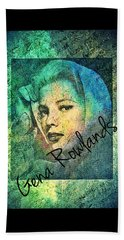 Bath Towel featuring the digital art Gena Rowlands by Absinthe Art By Michelle LeAnn Scott