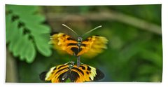 Bath Towel featuring the photograph Gentle Butterfly Courtship 03 by Thomas Woolworth