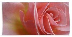Gentle Pink Rose Bath Towel