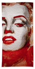 Bath Towel featuring the painting Gentlemens Prefer Blondes by Laur Iduc