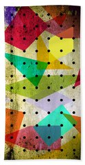 Geometric In Colors  Bath Towel