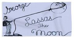 George Lassos The Moon Hand Towel