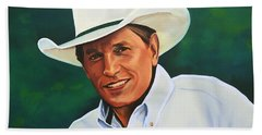 George Strait Hand Towel by Paul Meijering