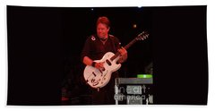 Hand Towel featuring the photograph George Thorogood Performing by John Telfer