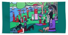 George Seurat- A Cyclops Sunday Afternoon On The Island Of La Grande Jatte Hand Towel