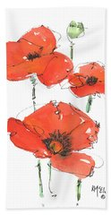 Georgetown Texas The Red Poppy Capital Hand Towel