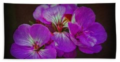 Bath Towel featuring the photograph Geranium Blossom by Hanny Heim