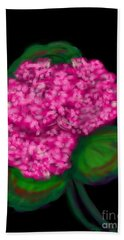 Hand Towel featuring the digital art Geranium by Christine Fournier