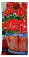 Geraniums Hand Towel