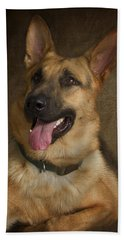 German Shepherd Portrait Hand Towel