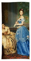 Getting Dressed, 1869 Hand Towel