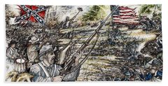 Gettysburg Ash's At The Angle Hand Towel by Scott and Dixie Wiley