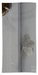 Ghost Doorbell Moth Bath Towel