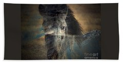 Bath Towel featuring the photograph Ghost Pony by Irma BACKELANT GALLERIES