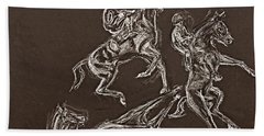 Ghost Riders In The Sky Bath Towel by Tom Conway