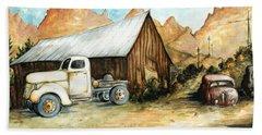 Ghost Town Nevada - Western Art Painting Bath Towel