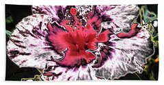 Giant Pink Sandstone Hibicus Hand Towel by Belinda Lee