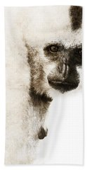 Crested Gibbon #1 Bath Towel