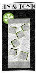 Gin And Tonic Cocktail Art Deco Swing   Hand Towel